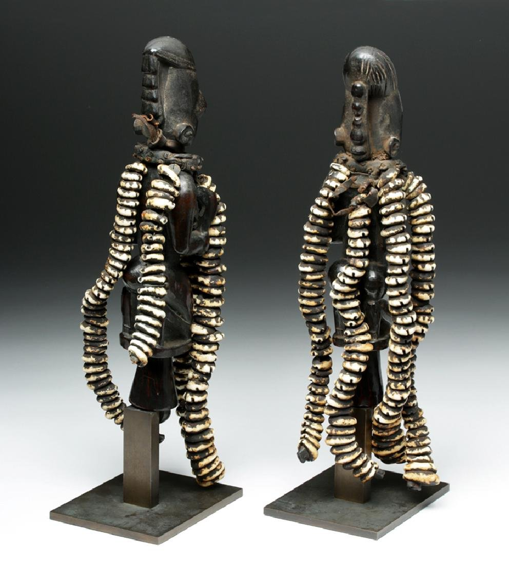 Pair of 20th C. Nigerian Yoruba Esu Staff (Ogo Elegba) - 4