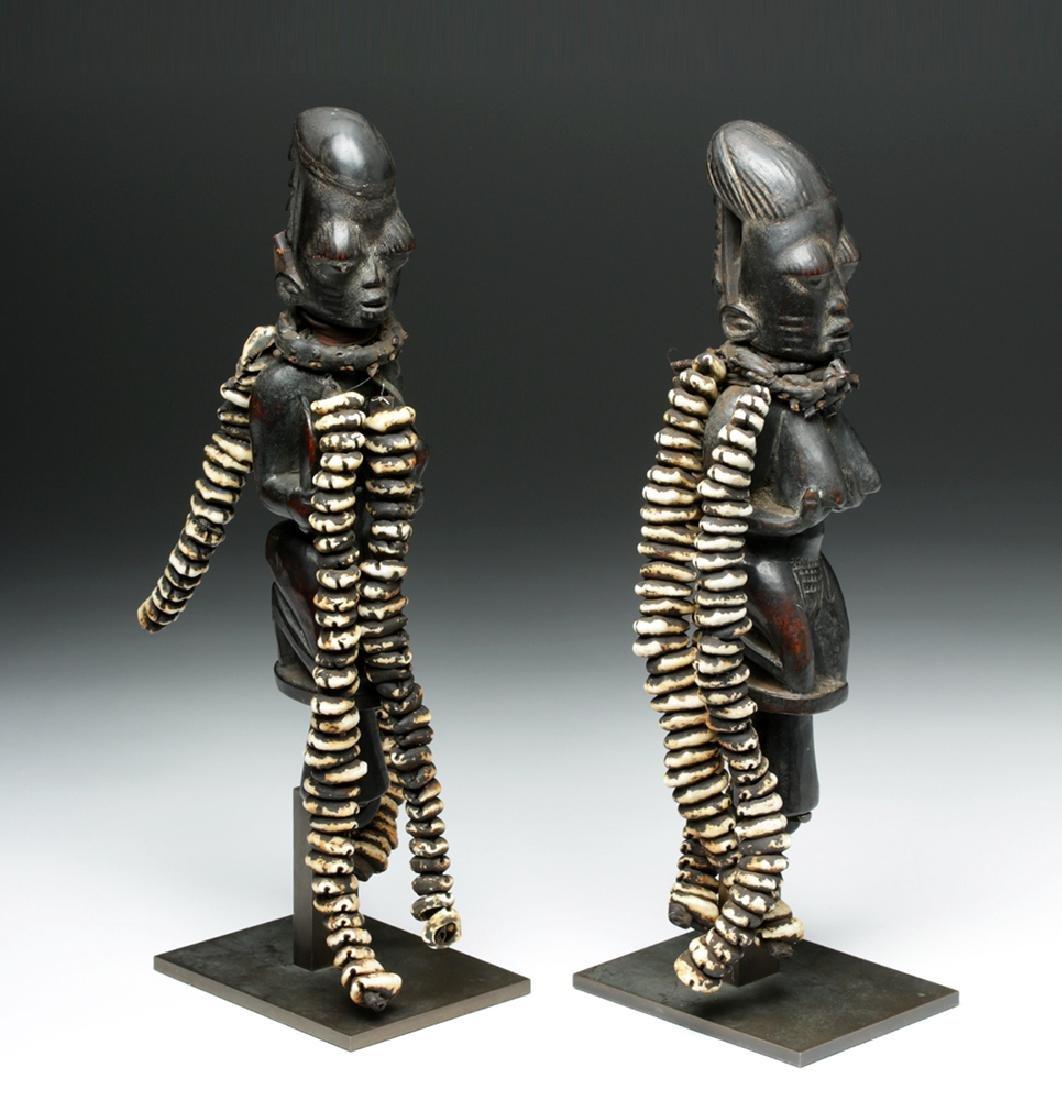 Pair of 20th C. Nigerian Yoruba Esu Staff (Ogo Elegba) - 5