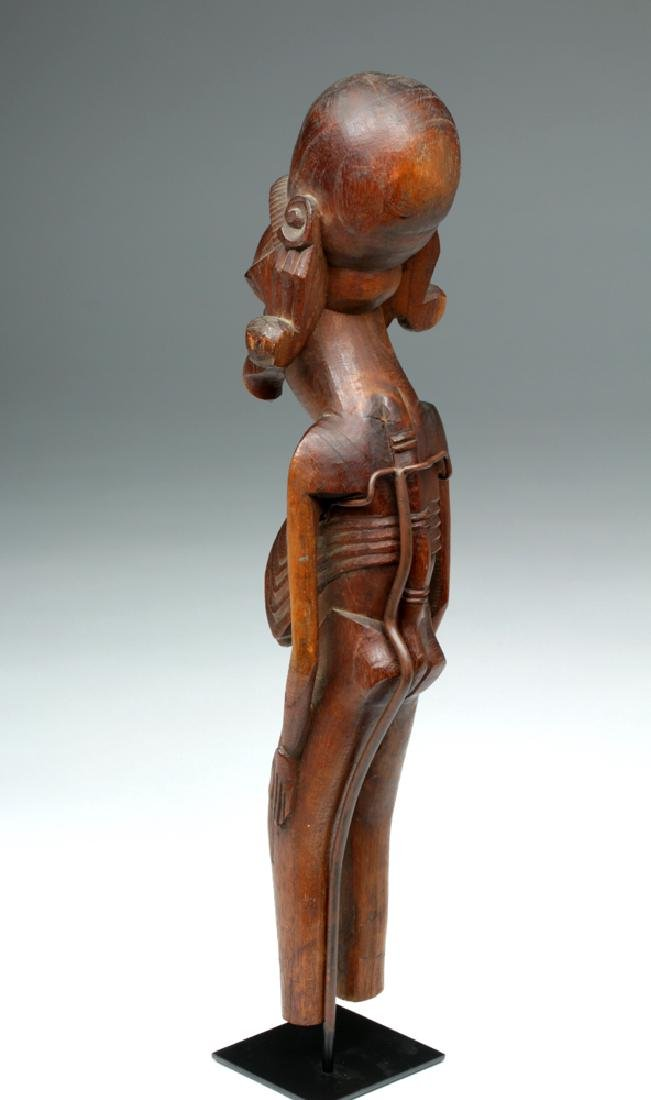 20th C. Easter Island Carved Wood Moai Kavakava - 3
