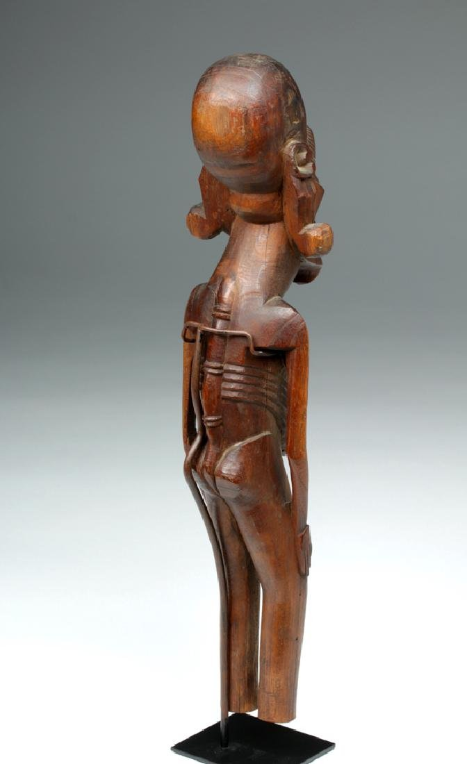 20th C. Easter Island Carved Wood Moai Kavakava - 4