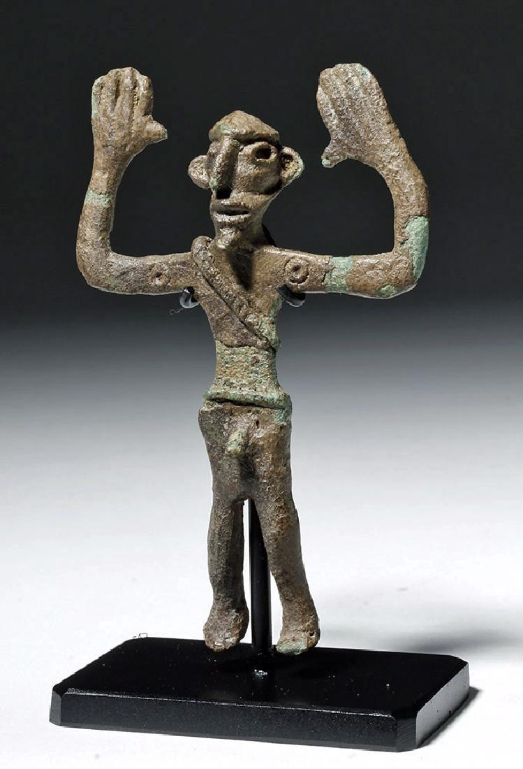 Ancient Dagestan Bronze Human Male Figure