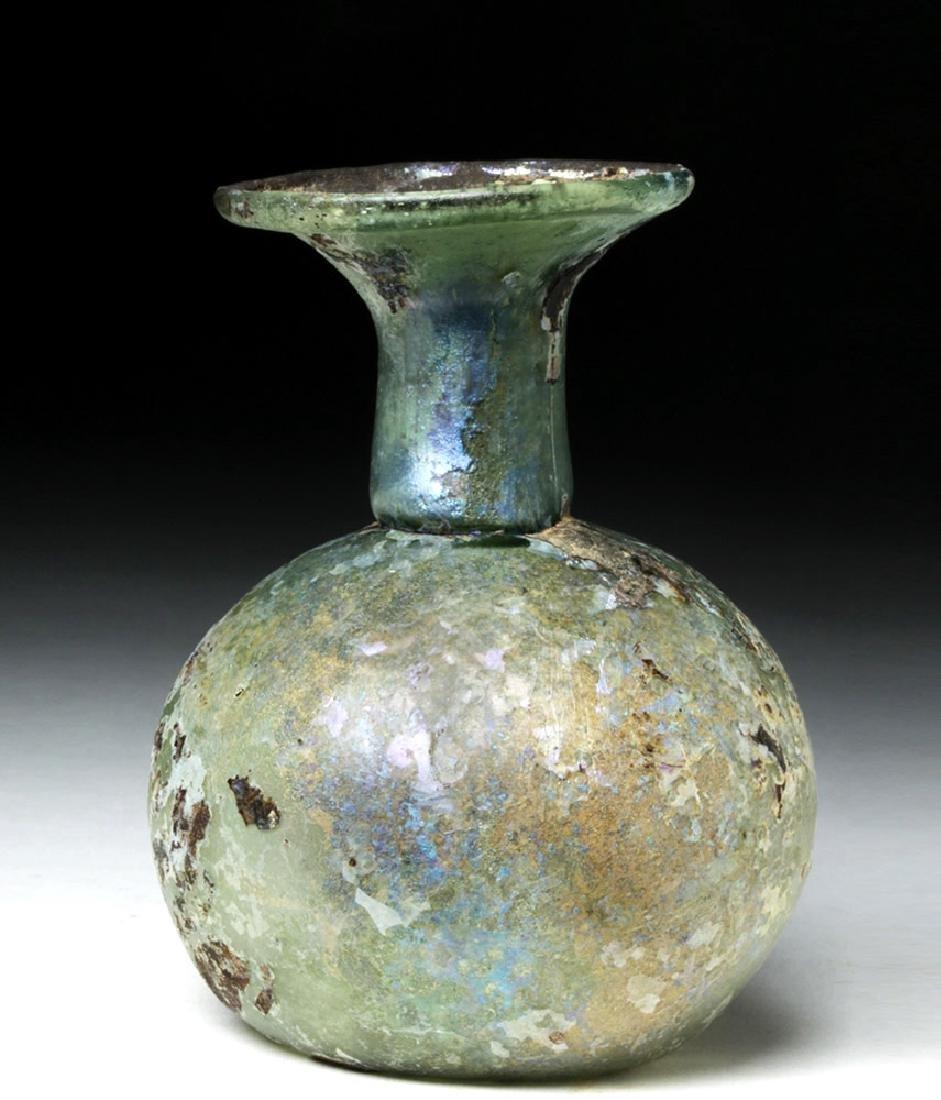 Roman Glass Flask - Gorgeous Irridescence