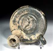 Greek South Italic Pottery Guttos  Undulating Motif