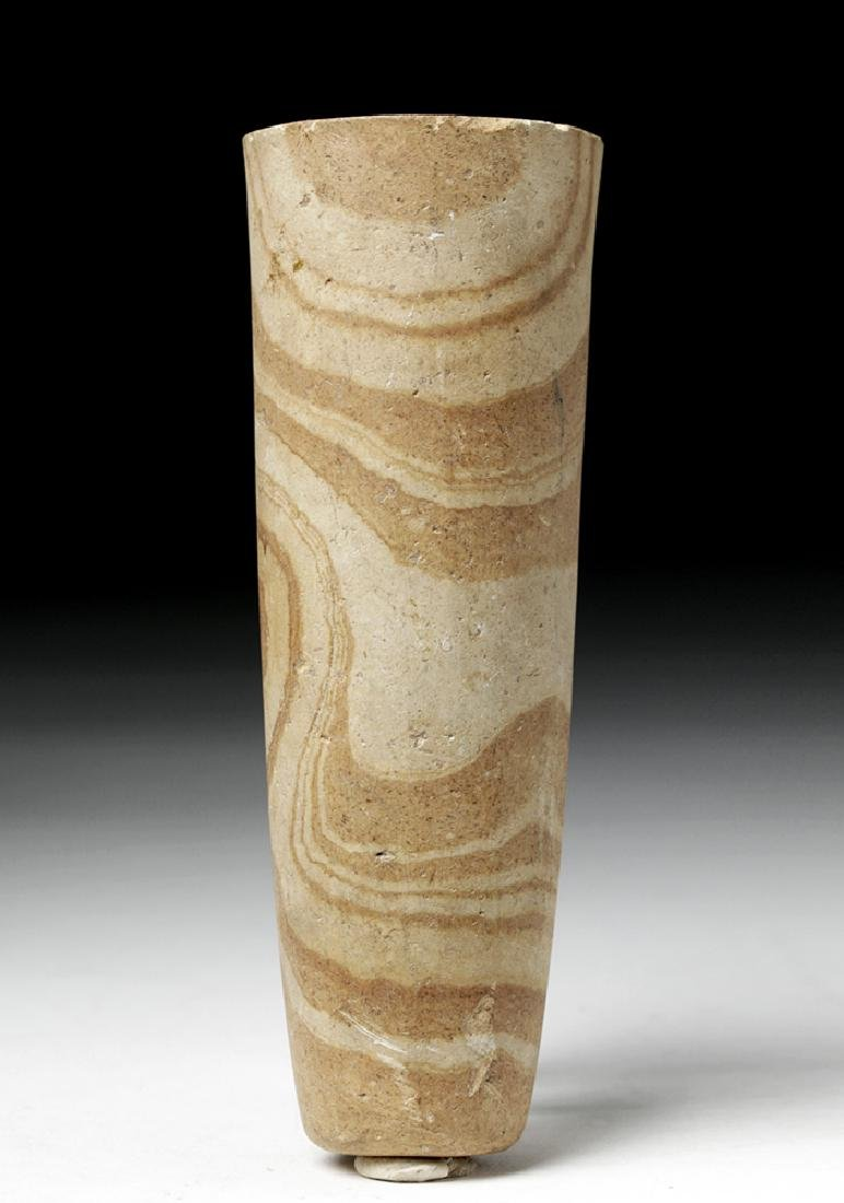 Egyptian Banded Sandstone Staff Handle