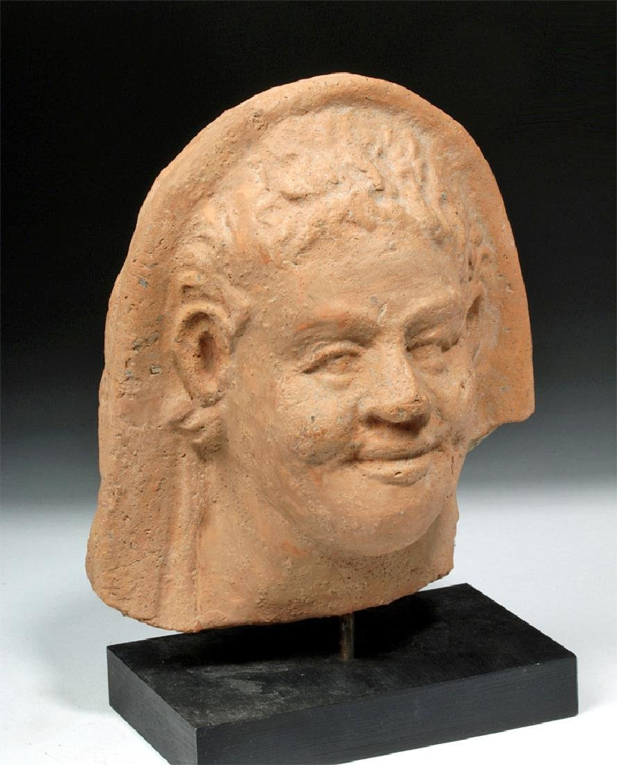 Fine Greek Terracotta Protome of a Youth