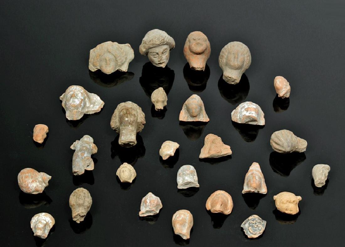 Group of 27 Greek & Roman Pottery Heads