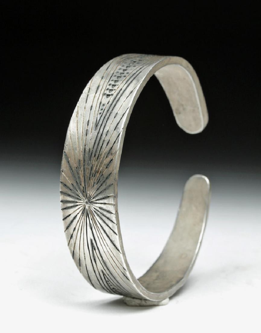 Viking Stamp Decorated Bracelet - 63.6 grams