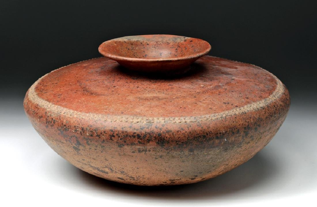Large Colima Pottery Redware Saucer-Shaped Olla