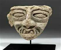 Teotihuacan Stone Head Fragment  Old God of Fire