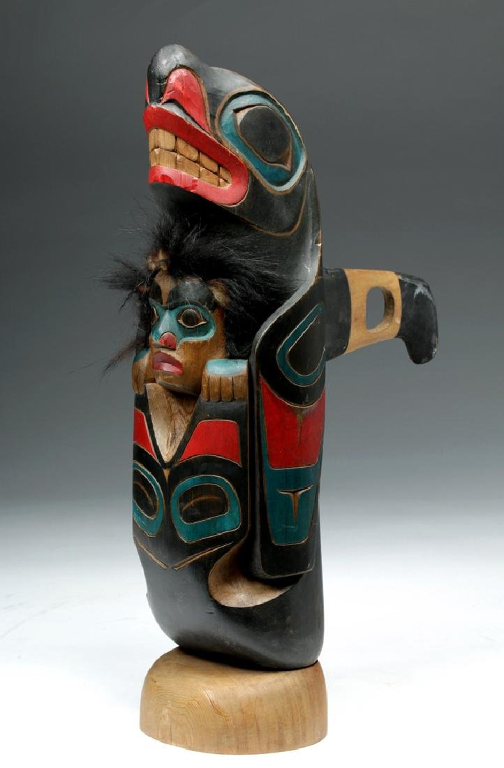 20th C. Pacific Northwest Wood Totem - Randy Stiglitz