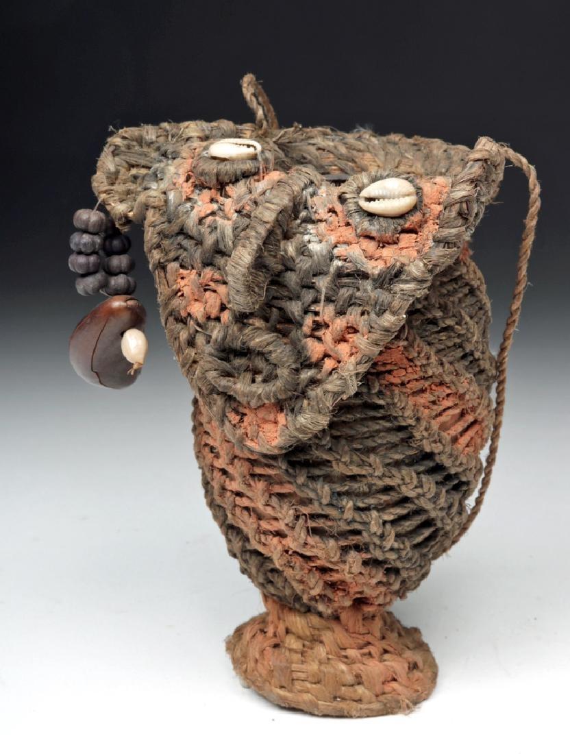 20th C. Papua New Guinea Woven Phallus Sheath - Koteka