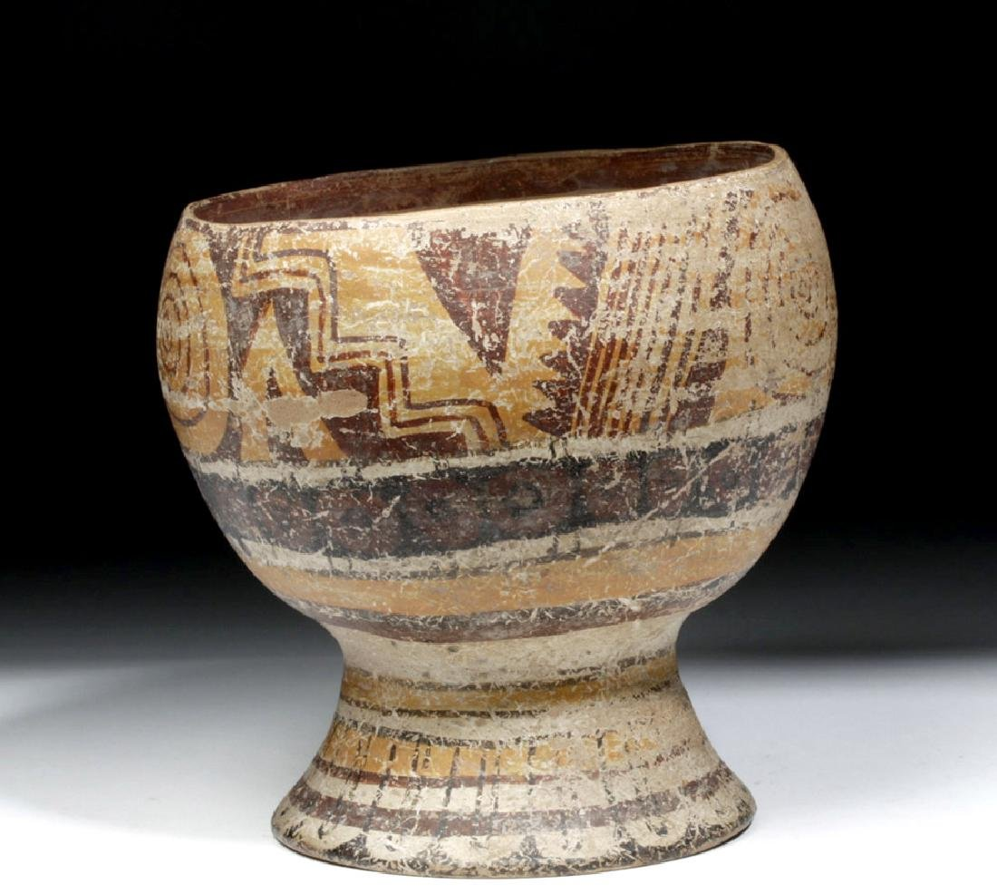 Lovely Toltec Polychrome Kero, Rounded Body