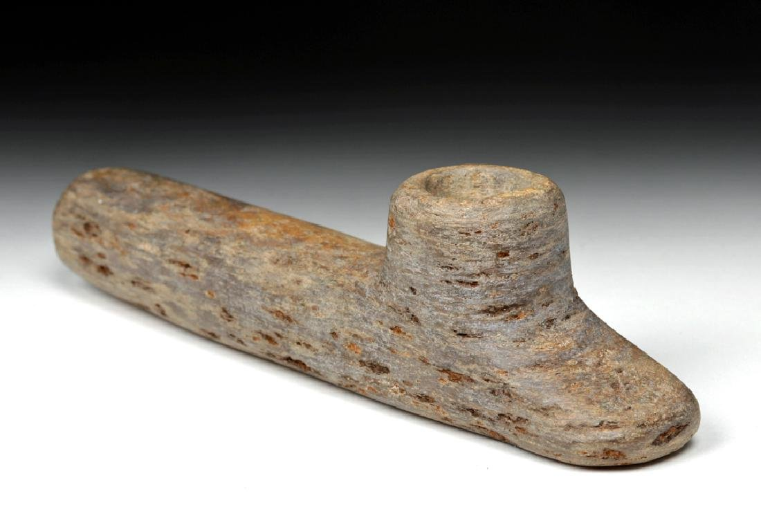Native American Woodlands Carved Stone Pipe