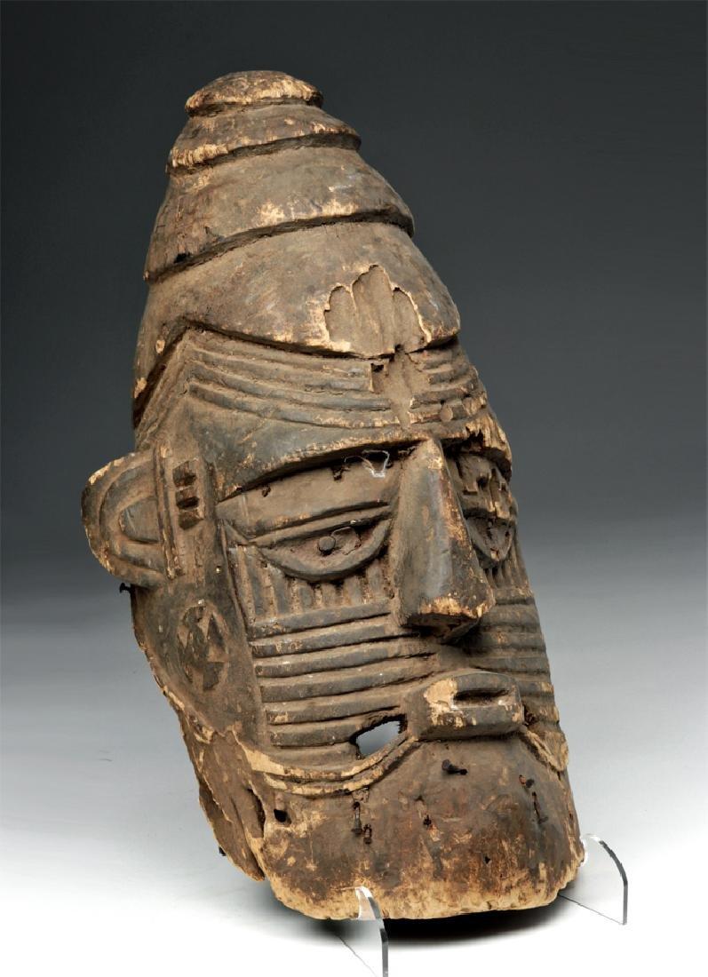 Early 20th C. African Igbo Ojukwu Helmet Mask