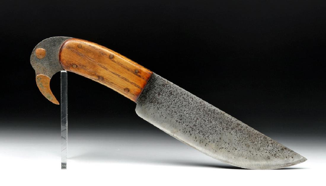 Late 19th C. North American Bowie Knife - Bird Handle