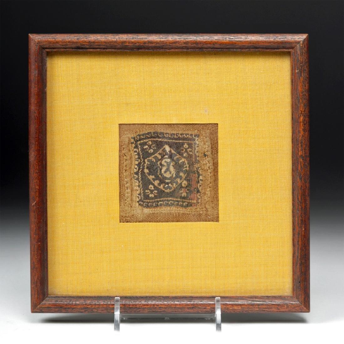 3rd C. Egyptian Textile Coptic Panel - Framed