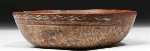Chinesco Nayarit Pottery Bowl  Geometric Motif