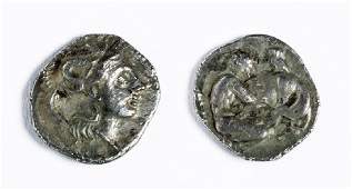 Silver Diobol from Tarentum  Calabria