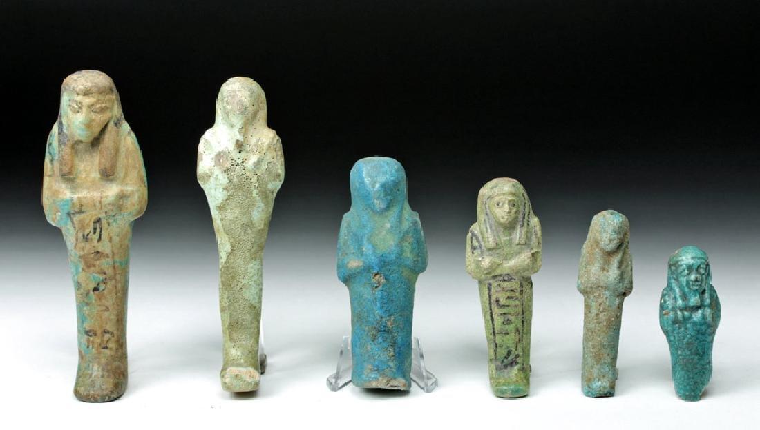 Lot of 6 Egyptian Faience Ushabtis