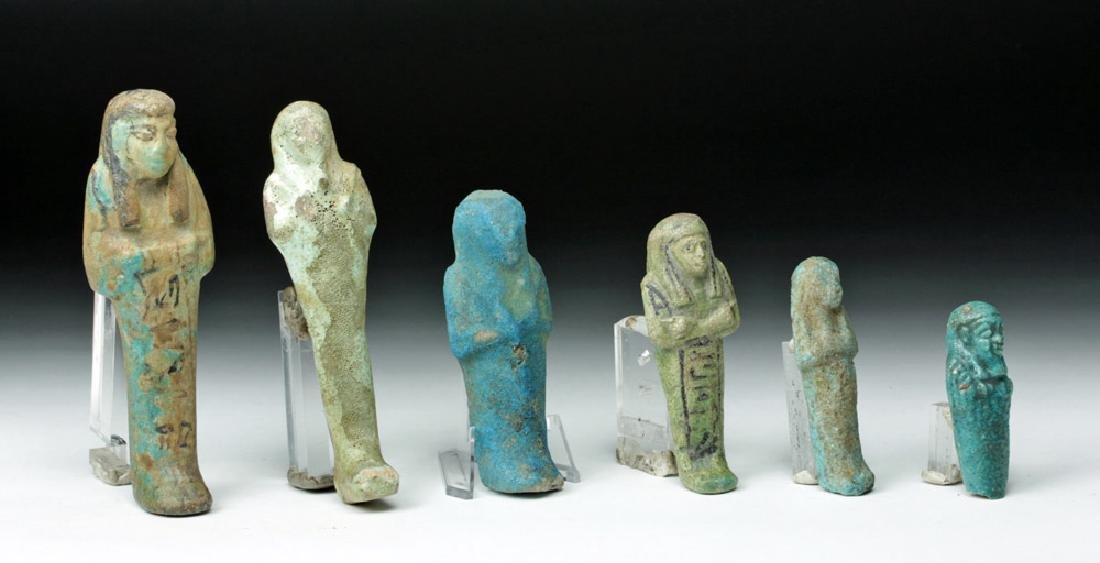 Lot of 6 Egyptian Faience Ushabtis - 3