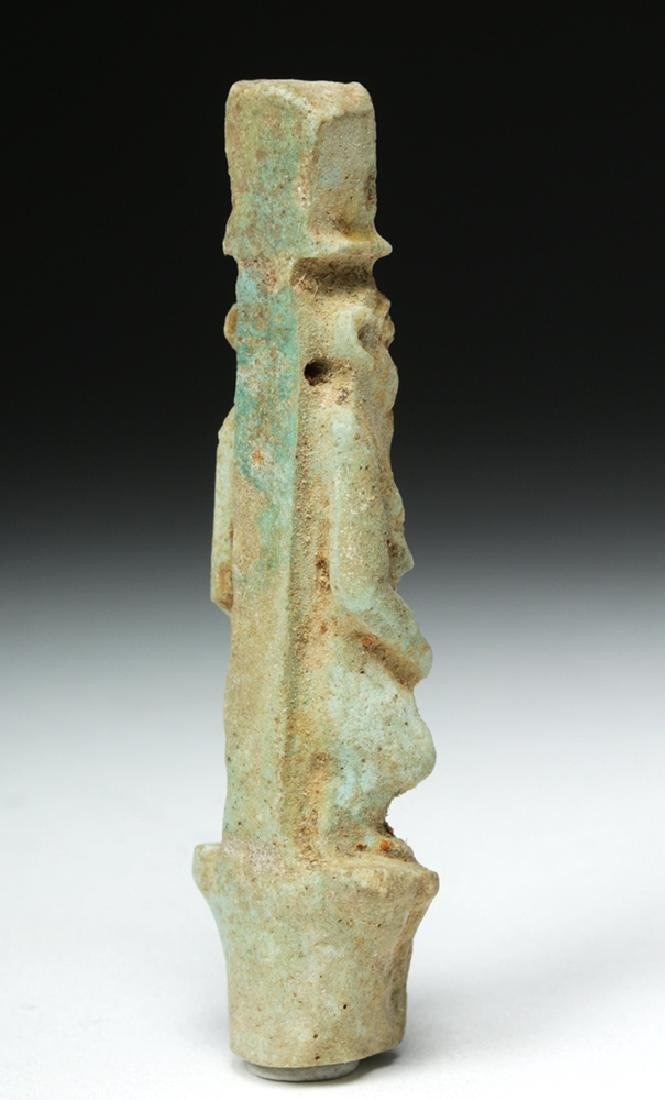 Egyptian Faience Amulet - Bes on Palm - 4