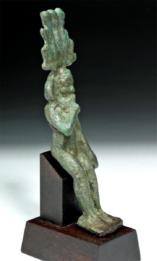 19th C. Egyptian Bronze Seated Harpokrates