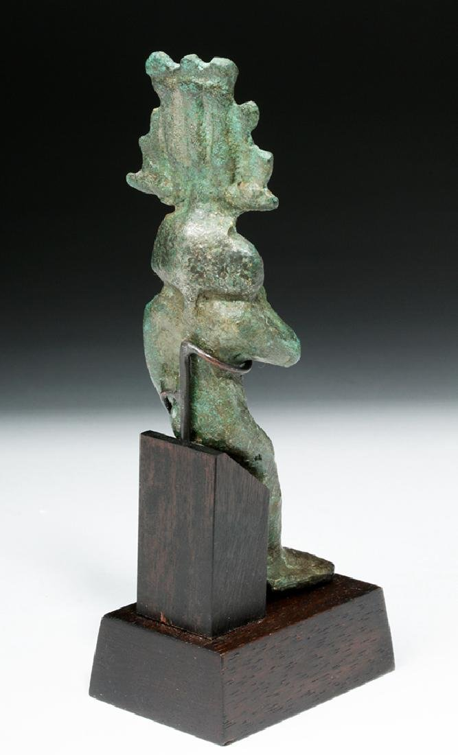 19th C. Egyptian Bronze Seated Harpokrates - 4