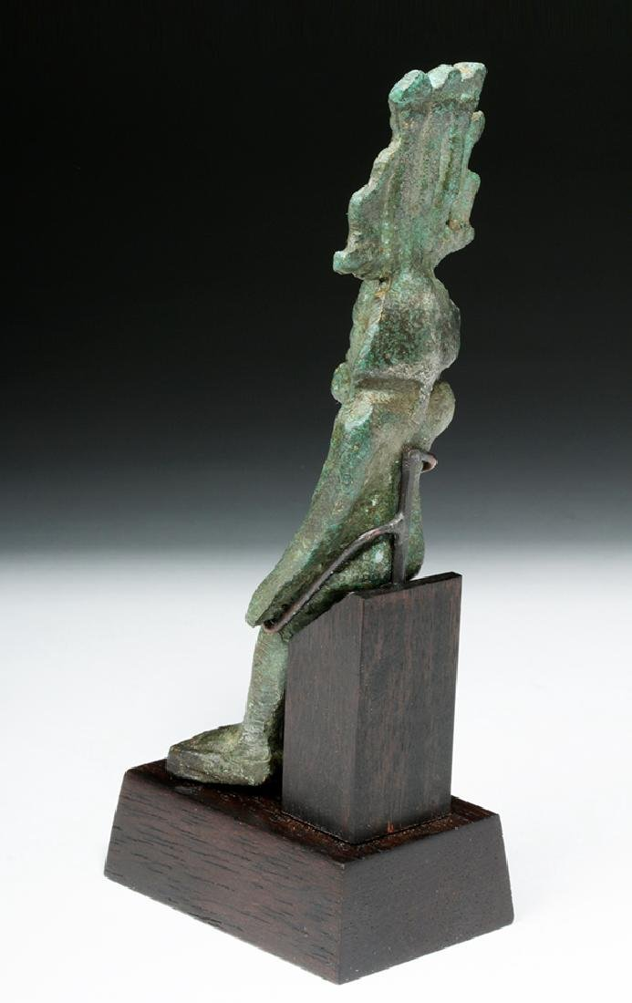 19th C. Egyptian Bronze Seated Harpokrates - 5