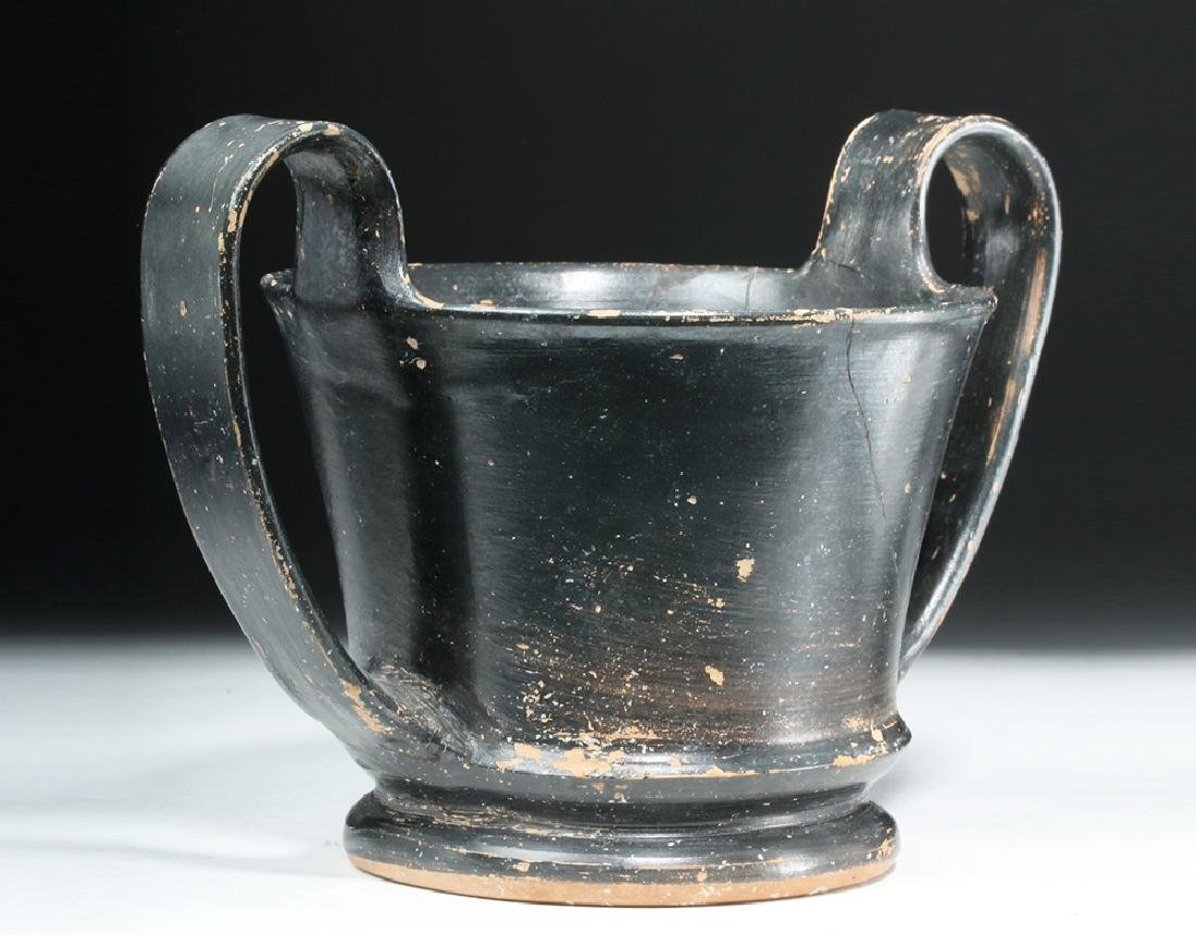 Greek Boeotian Blackware Kantharos - 2