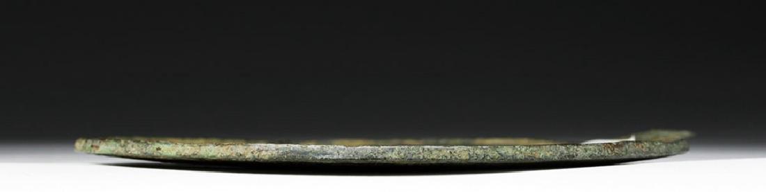 Hellenistic Greek Bronze Mirror - Grapevines - 4