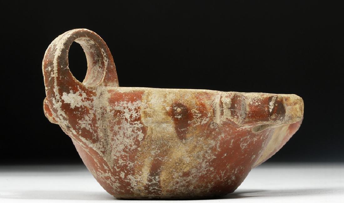 Roman Redware Oil Lamp w/ Planta Pedis - 4