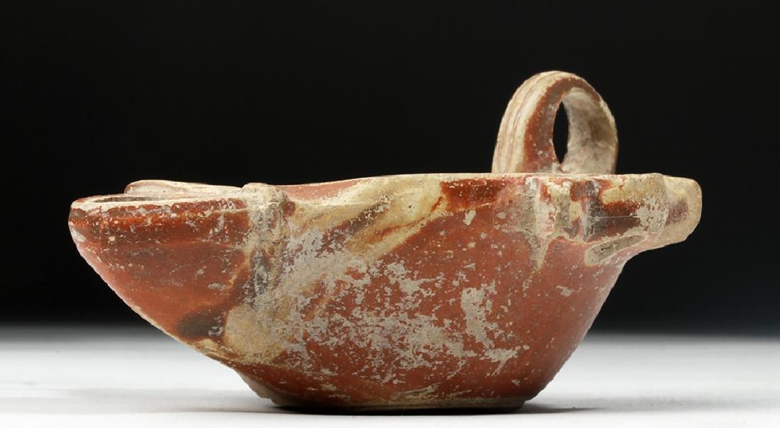 Roman Redware Oil Lamp w/ Planta Pedis - 6