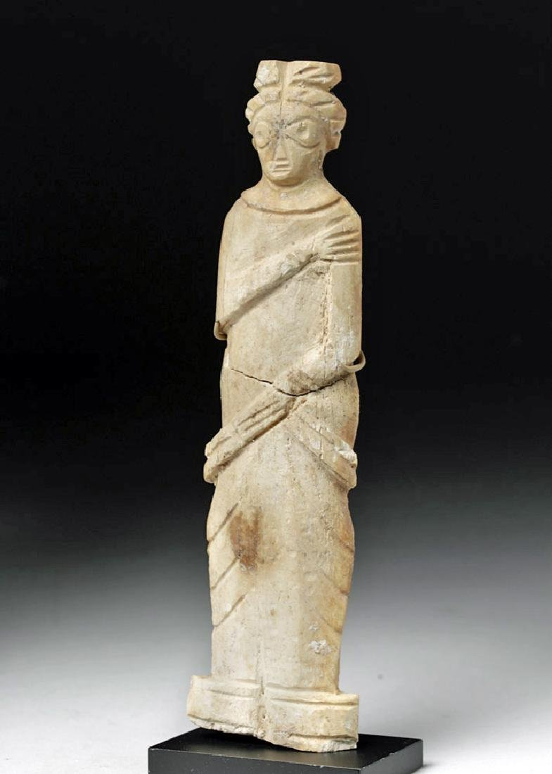 Romano-Egyptian Bone Figure of a Standing Female