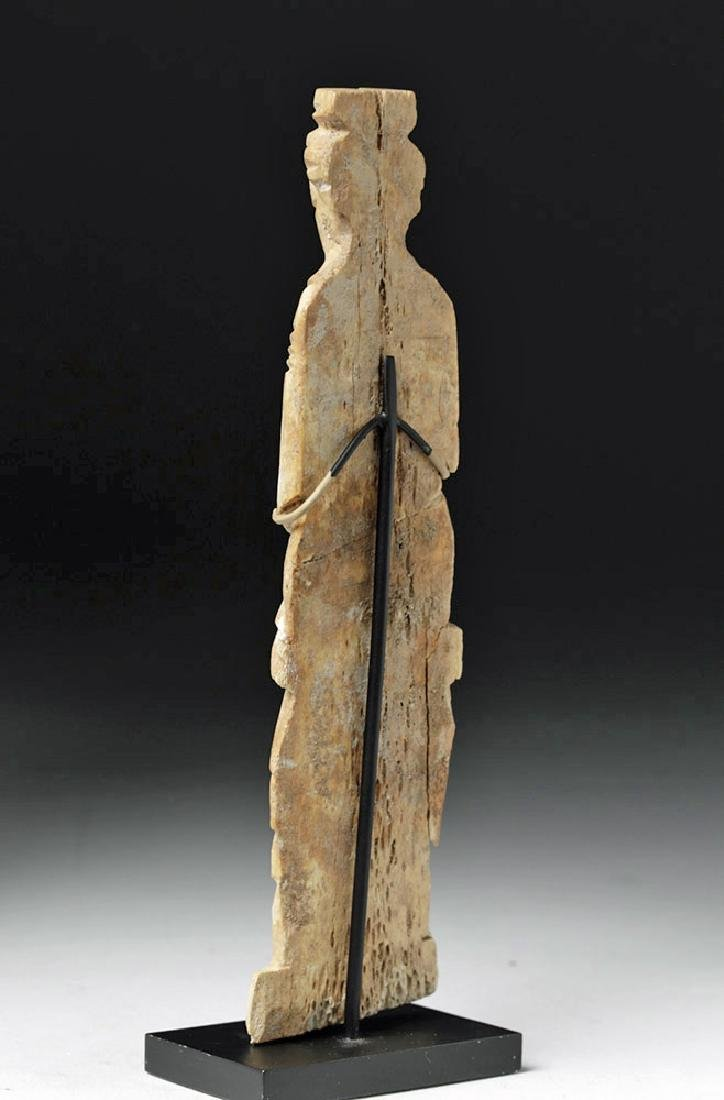 Romano-Egyptian Bone Figure of a Standing Female - 2