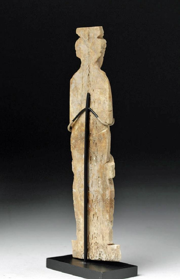 Romano-Egyptian Bone Figure of a Standing Female - 3