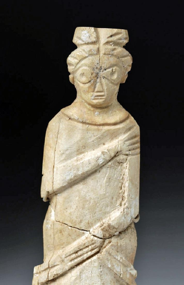Romano-Egyptian Bone Figure of a Standing Female - 5