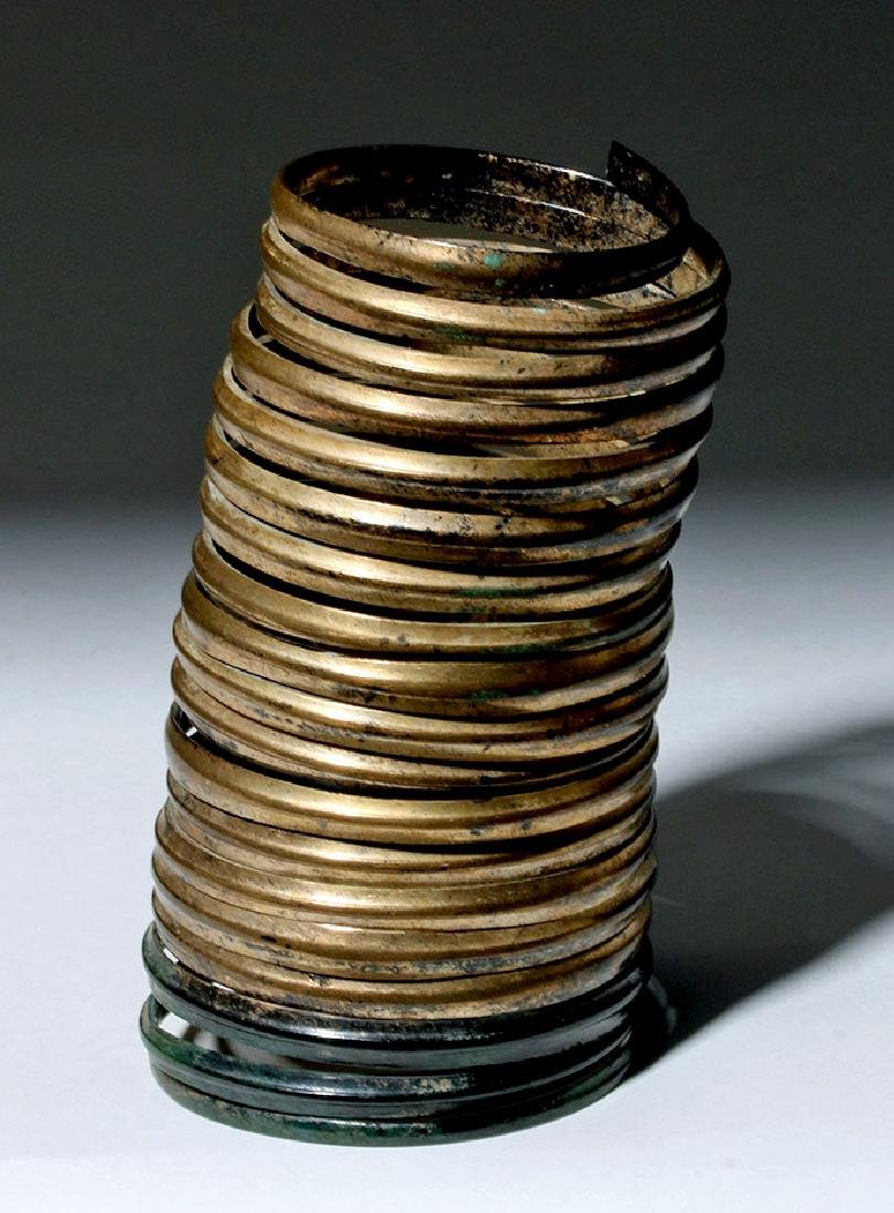 Ancient Hallstatt Bronze Spiral Bracelet - 2