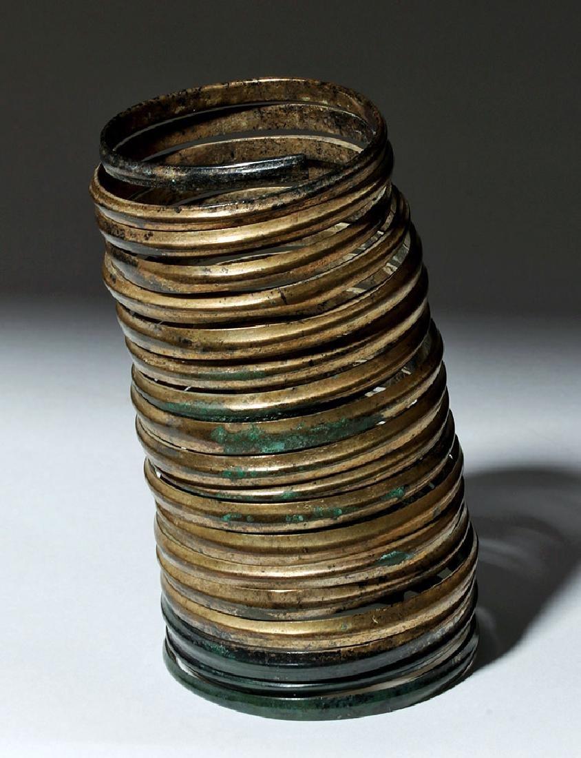 Ancient Hallstatt Bronze Spiral Bracelet - 3