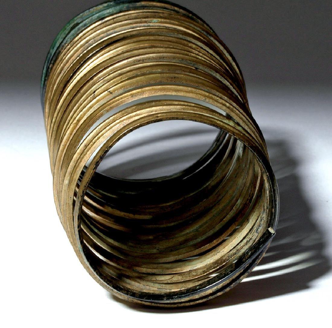 Ancient Hallstatt Bronze Spiral Bracelet - 4