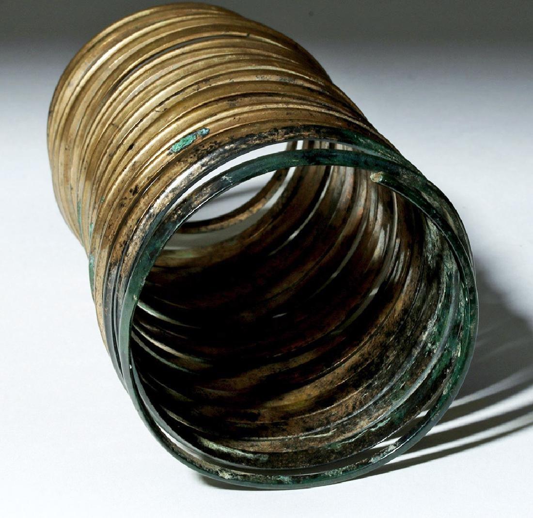 Ancient Hallstatt Bronze Spiral Bracelet - 5