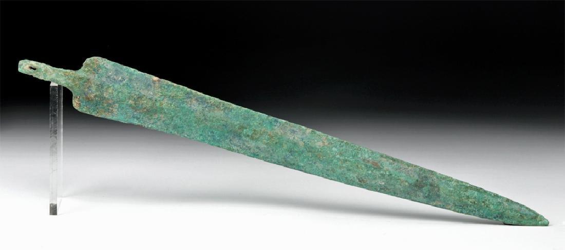 "Ancient Luristan Bronze Short Sword - 17"" Long"