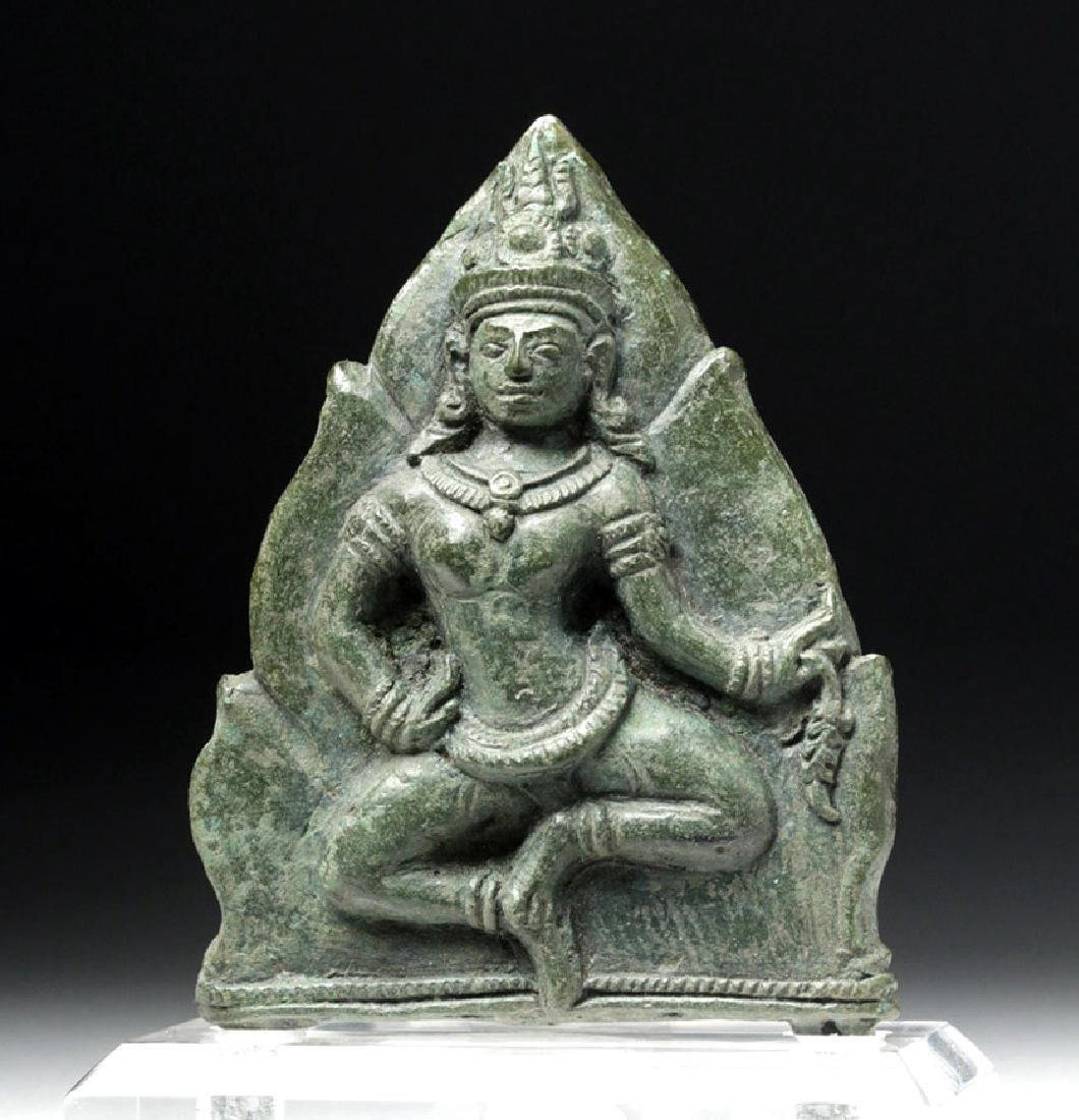 Khmer Bronze Plaque w/ Dancing Parvati / Uma