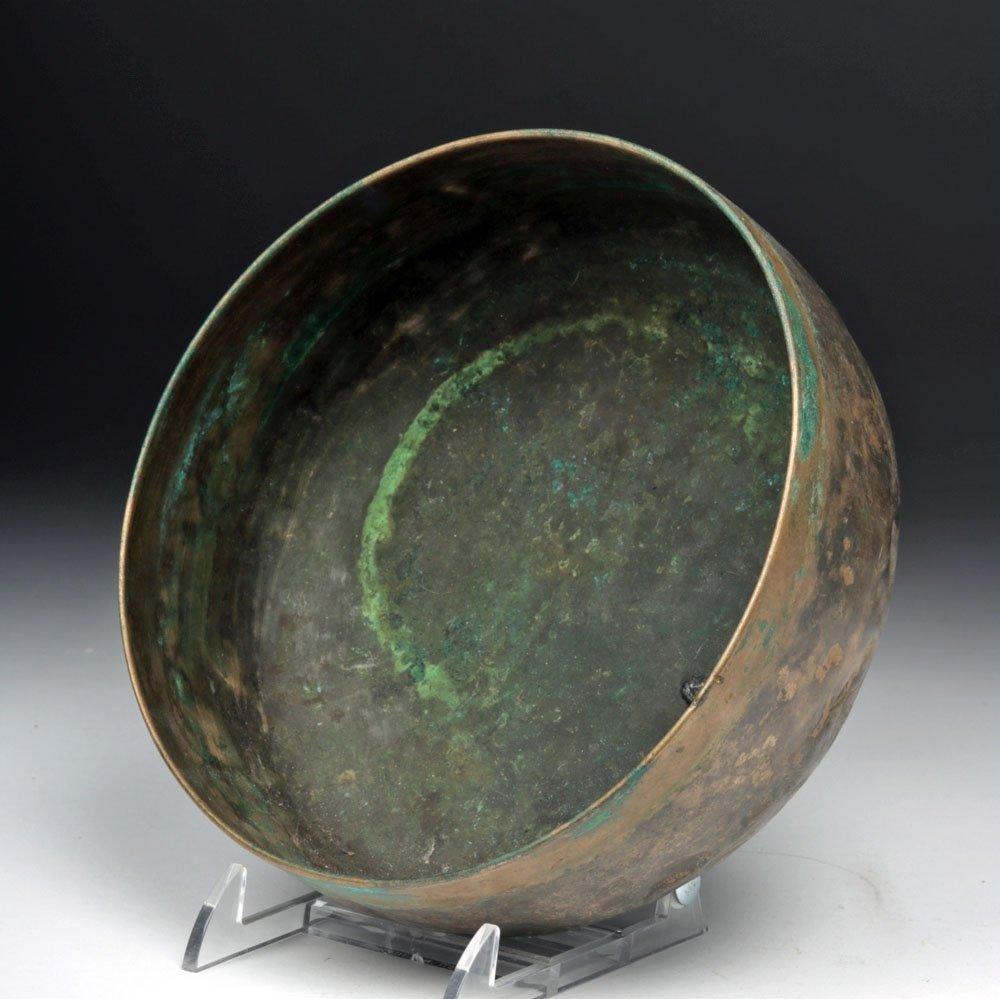 8th C. Medieval Persian Bronze Bowl - 3