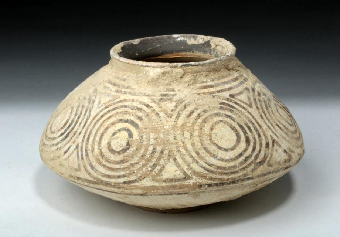 Ancient Indus Valley Pottery Vessel w/ Geometrics - 2