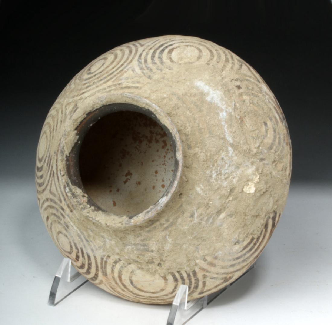 Ancient Indus Valley Pottery Vessel w/ Geometrics - 5