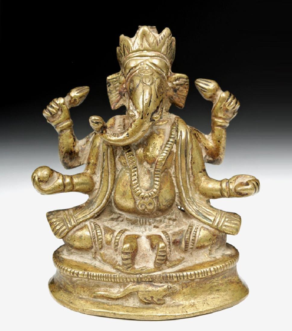 18th C. Indian Bronze Stature of Ganesha