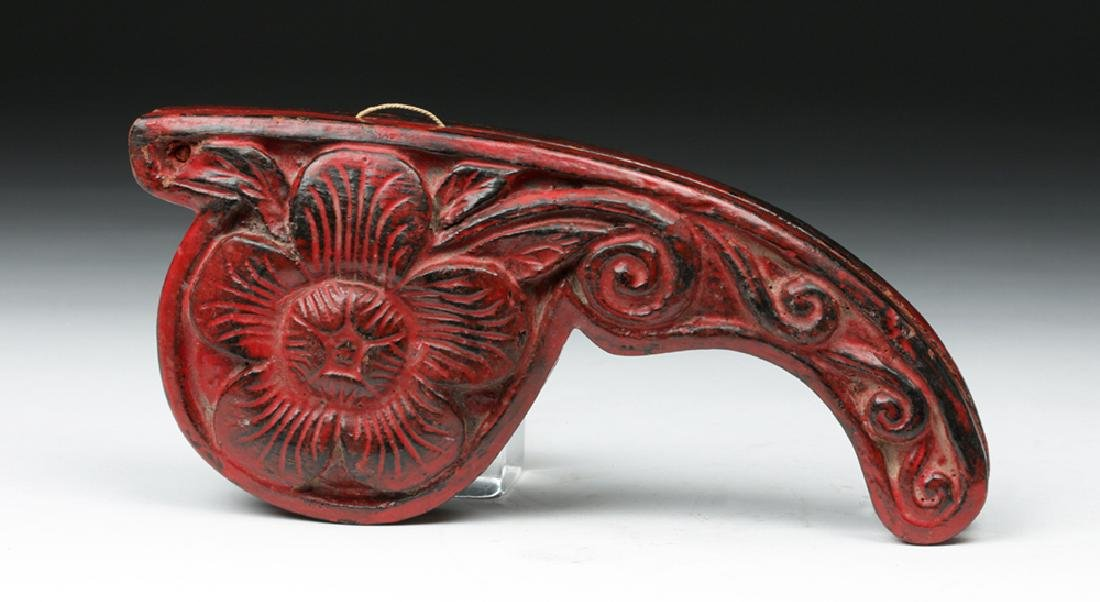 19th C. Indian Wood/ Brass Opium Scale (Dotchin) - 6
