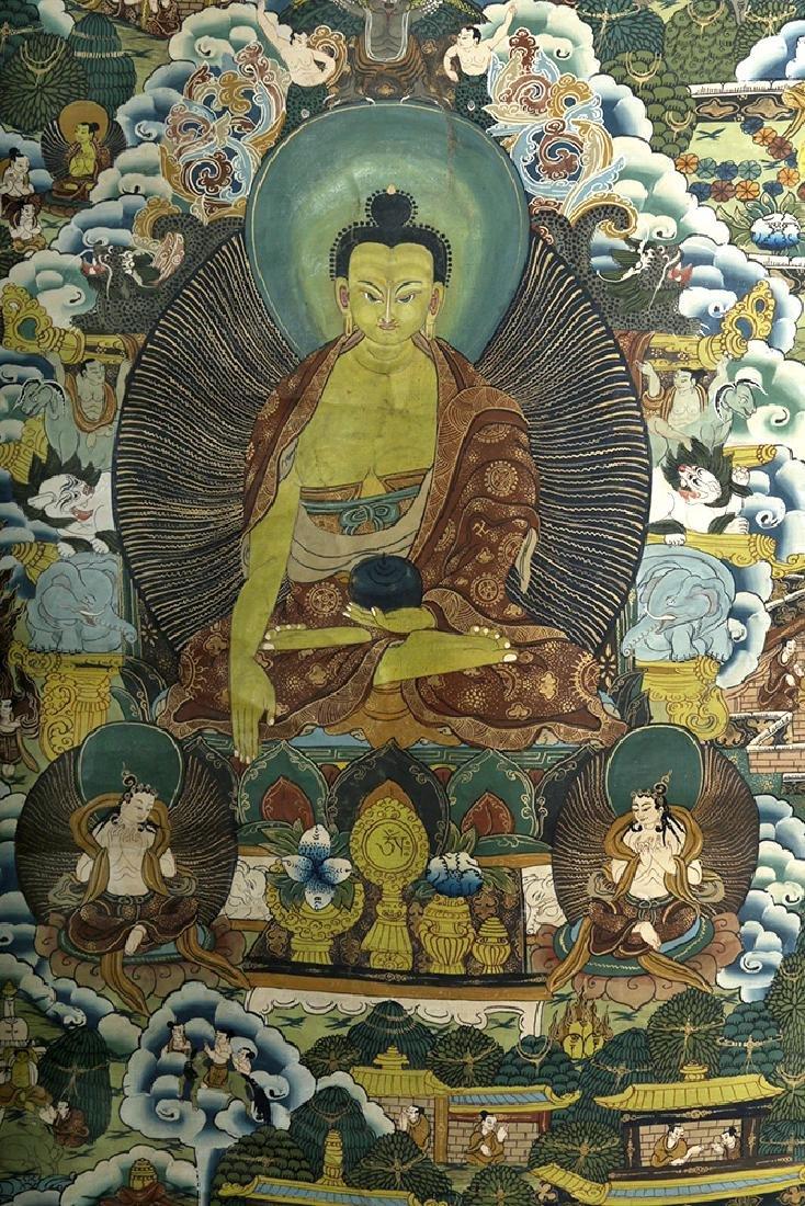 Early 20th C. Tibetan Thangka - Life of Buddha - 3