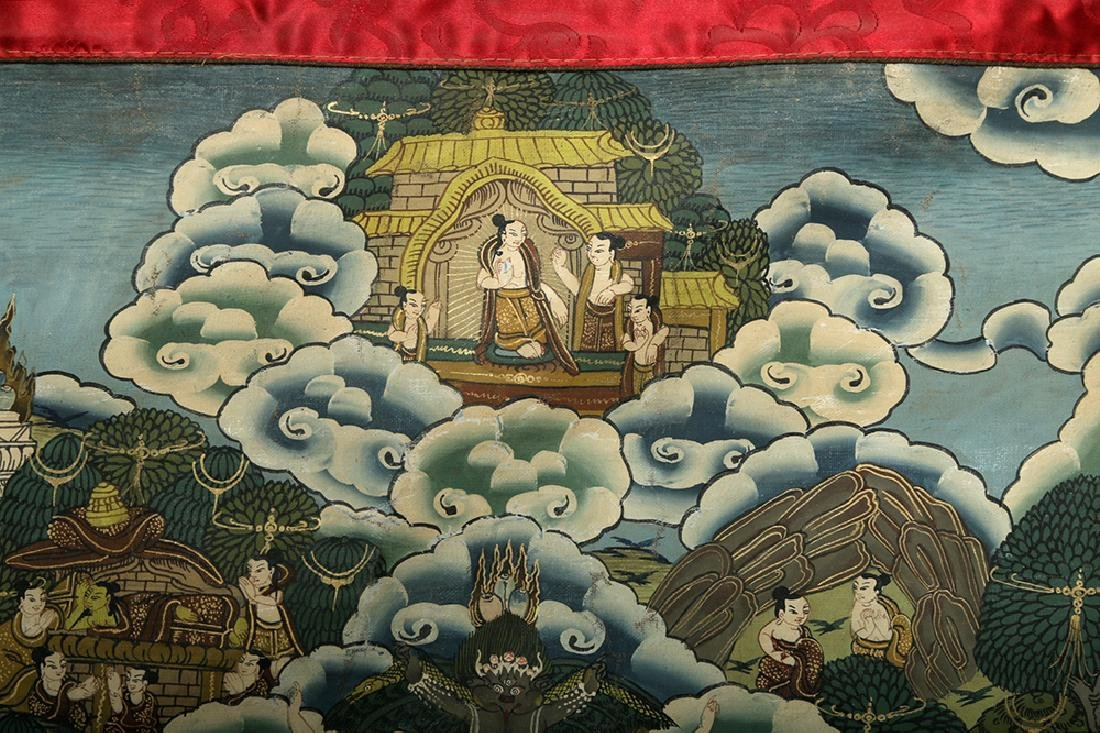 Early 20th C. Tibetan Thangka - Life of Buddha - 4
