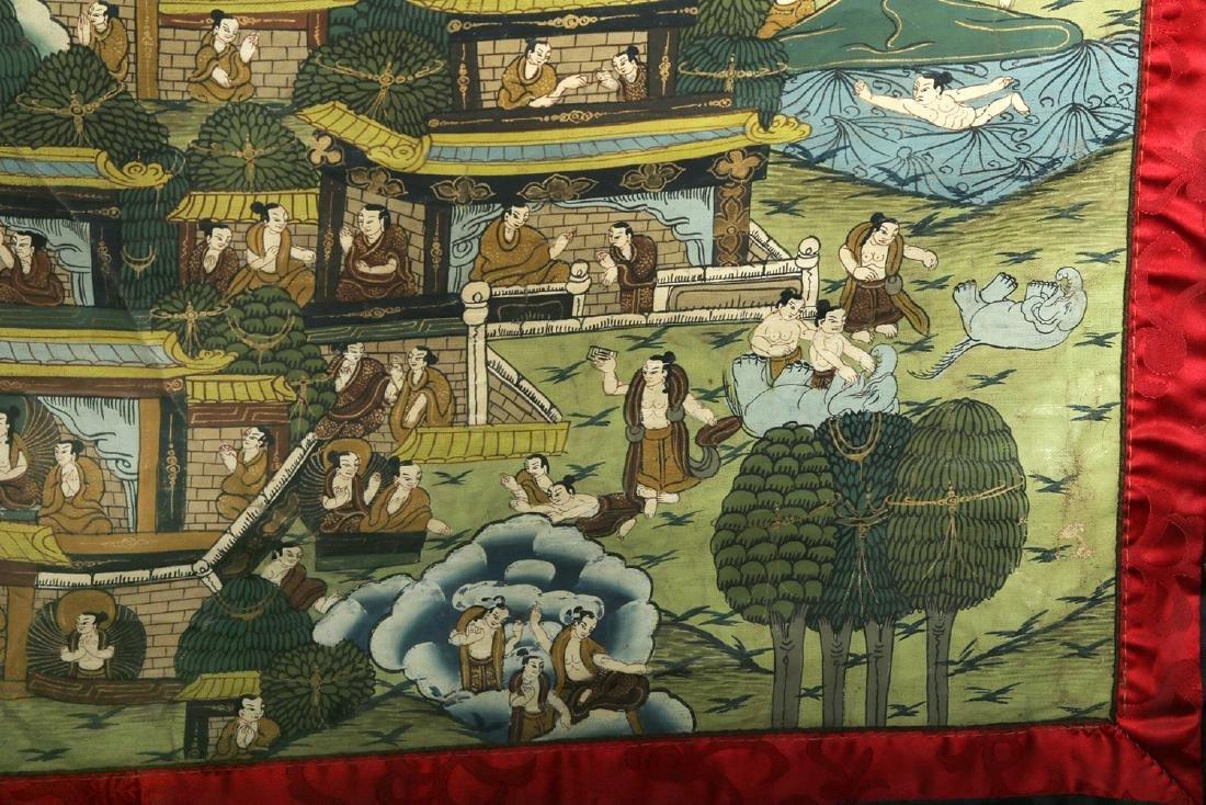 Early 20th C. Tibetan Thangka - Life of Buddha - 5